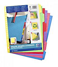 Tabbladen Oxford A4+ 23-gaats 6-delig karton kleur