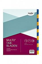 Tabbladen Multo A4 23-gaats 12-delig jan-dec karton 190gr