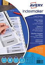 Tabbladen Avery Indexmaker 9-gaats 5-delig wit