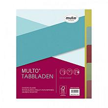 Tabbladen Multo A5 17-gaats 5-delig ass karton 180gr