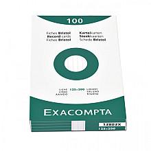 Systeemkaart Exacompta 125x200mm lijn wit