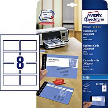 Visitekaart Avery C32015-25 85x54mm 260gr mat 200stuks