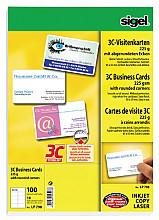 Visitekaartjes Sigel 225gr afgeronde hoeken wit