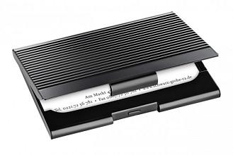 Visitekaartenhouder Sigel VZ134 20 kaarten mat zwart