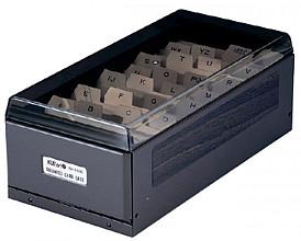 Visitekaartenbak KW-TRIO metaal voor 600 visitekaartjes