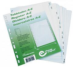 Tabbladen Rillstab A5 11-gaats A-Z 12-delig PP grijs