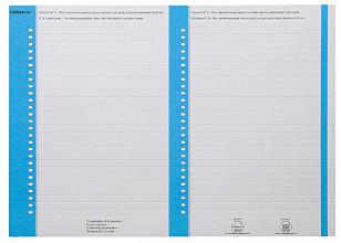 Ruiterstrook Elba Nr 8 138x6mm lateraal blauw