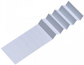 Ruiterstrook voor Alzicht hangmappen 65mm wit
