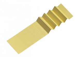 Ruiterstrook voor Alzicht hangmappen 65mm geel