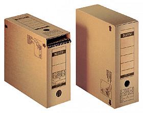 Archiefdoos Leitz Premium 120x275x325mm met afsluitklep bruin
