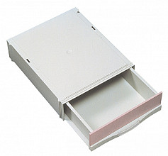 Stapelcassette Pas A6851-101 1lade hoog lichtgrijs