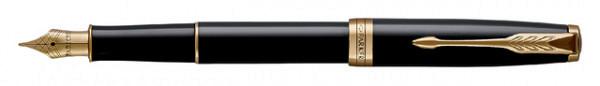 Vulpen Parker Sonnet black lacquer GT F