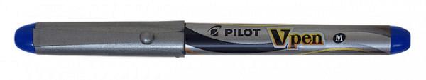 Vulpen Pilot V-pen zilver blauw