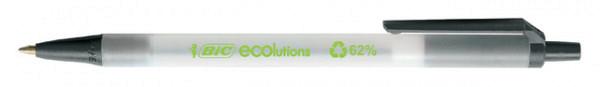 Balpen Bic Ecolutions clic stic medium zwart