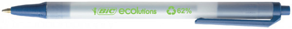 Balpen Bic Ecolutions clic stic medium blauw