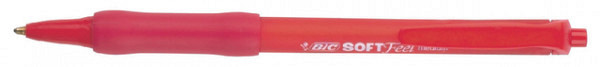 Balpen Bic Soft Feel Clic Grip rood medium