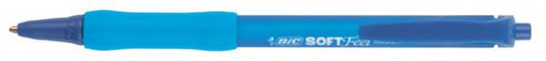Balpen Bic Soft Feel Clic Grip blauw medium