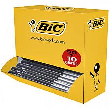 Balpen Bic M10 zwart medium doos 90+10 gratis
