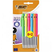 Balpen Bic M10 colors limited edition blister 8+2 gratis