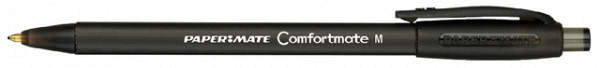 Balpen Paper Mate Comfortmate retractable zwart medium