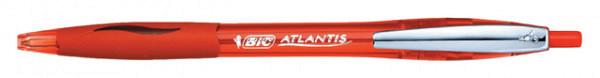 Balpen Bic Atlantis soft metalen clip 1.0mm rood