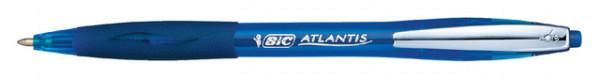 Balpen Bic Atlantis soft metalen clip 1.0mm blauw