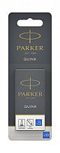 Inktpatroon Parker Quink uitwisbaar blauw blister à 10 stuks
