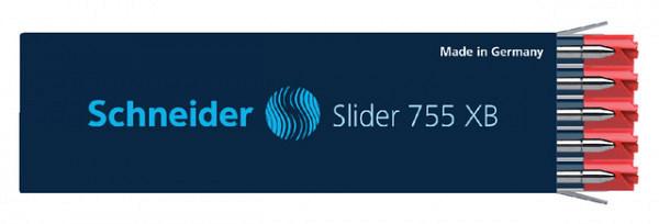 Balpenvulling Schneider Slider Jumbo 755 rood extra breed
