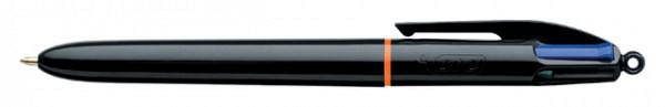 Balpen Bic 4kleuren Pro met ring en clip medium
