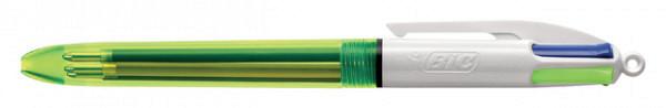 Balpen Bic 4kleuren fluo
