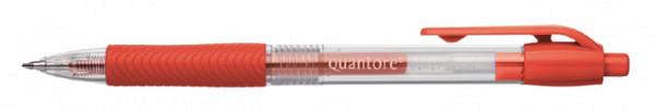 Gelschrijver Quantore grip drukknop 0.7mm rood