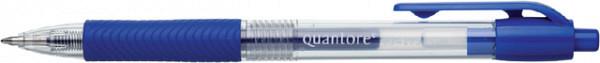 Gelschrijver Quantore grip drukknop 0.7mm blauw