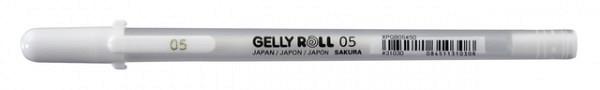 Gelschrijver Sakura Gelly Roll Basic 05 0.3mm wit