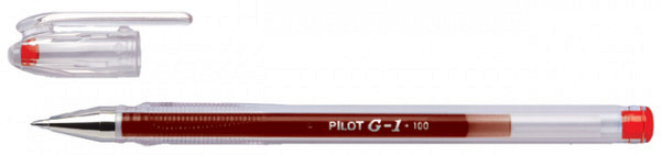 Gelschrijver PILOT G1 rood 0.4mm