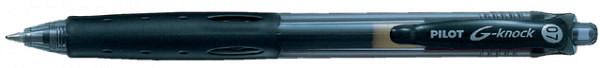 Gelschrijver PILOT G-knock Begreen zwart 0.4mm