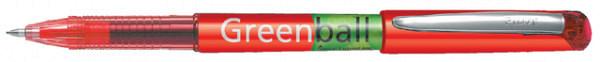 Rollerpen PILOT Greenball Begreen rood  0.35mm