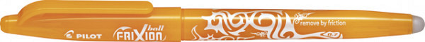 Rollerpen Pilot Frixion BL-FR7 0.35mm abrikoos oranje
