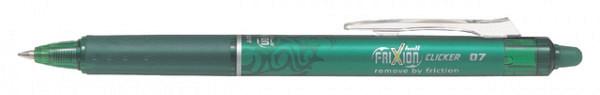 Rollerpen PILOT Frixion Clicker groen  0.35mm