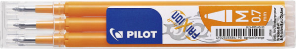 Rollerpenvulling Pilot Frixion BLS-FR7 0.35mm abrikoos oranje