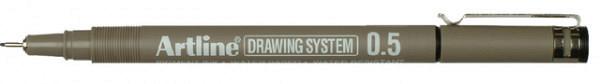 Fineliner Artline 0.5mm zwart