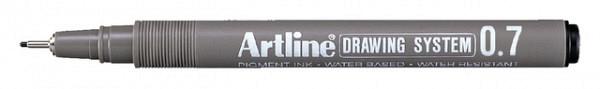Fineliner Artline 0.7mm zwart