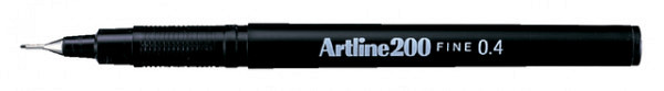 Fineliner Artline 200 rond 0.4mm zwart