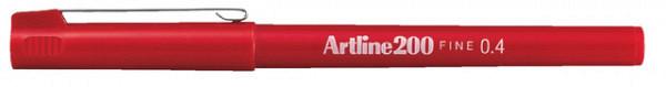 Fineliner Artline 200 rond 0.4mm rood