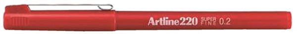 Fineliner Artline 220 rond 0.2mm rood