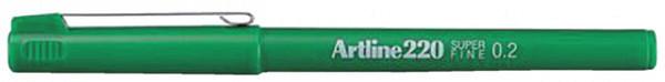 Fineliner Artline 220 rond 0.2mm groen