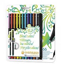Fineliner Chameleon bright blister à 12 kleuren