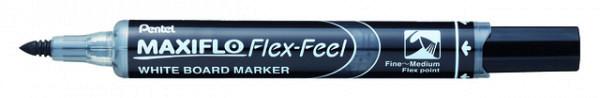Viltstift Pentel MWL5SBF Maxiflo whiteboard zwart 1-5mm