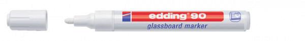 Viltstift edding 90 glasbord wit