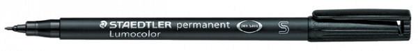 Viltstift Staedtler Lumocolor 313 permanent S zwart