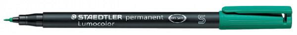Viltstift Staedtler Lumocolor 313 permanent S groen